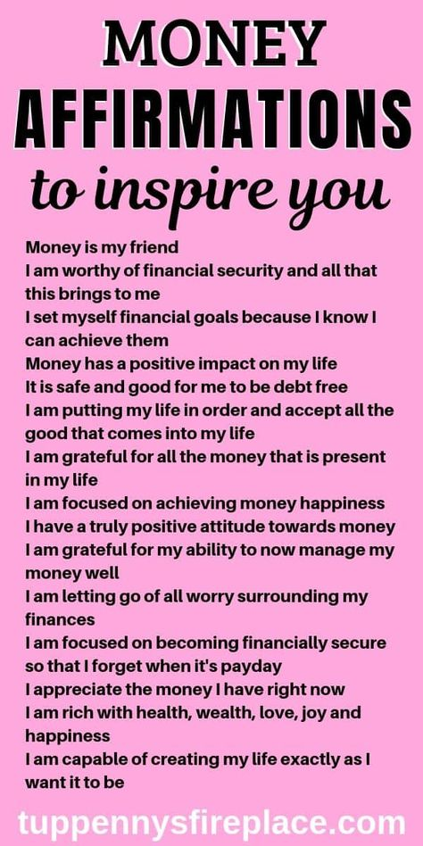 I love these positive money affirmation mantras. Do these every day and watch how the law of attraction will manifest itself in your life. Practice gratitude and be grateful for the wealth you already have. No need to be a lottery winner, you can win with life with these daily money affirmations