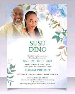 Senator Dino Melaye Cried Out As Unknown Lady Shared Their Wedding Card Which Stated To Hold On December 26th 202 Wedding Posters Getting Married Wedding Cards