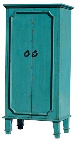 Cabby Jewelry Armoire Turquoise Hives Honey Avec Images Armoire Turquoise Bureau