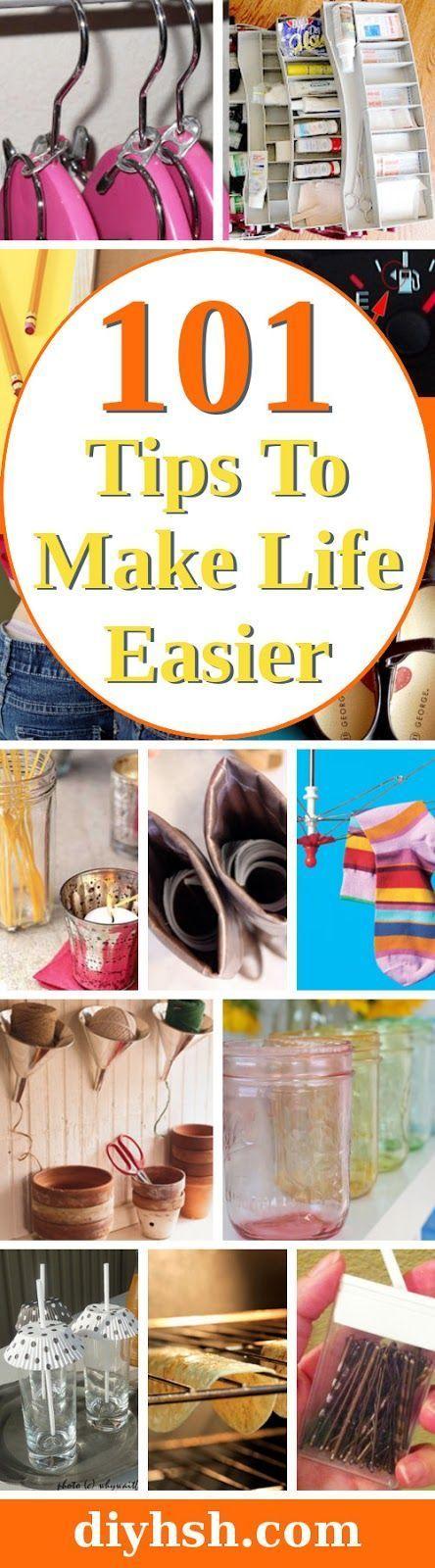 Tips, Tips, and More Tips. 101 Tips to make life easier. #DIYHSH #LifeHacks #Family #diy