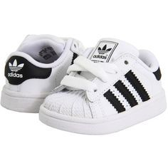 adidas Originals Kids Superstar 2 Core (Infant/Toddler) ($40) ❤️