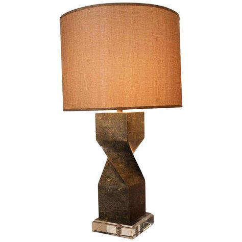 Sage Table Lamp with Marble Base