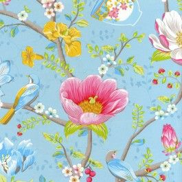 341006 Pip Studio 3 Chinese Garden Yellow Multicoloured Eijffinger Wallpaper