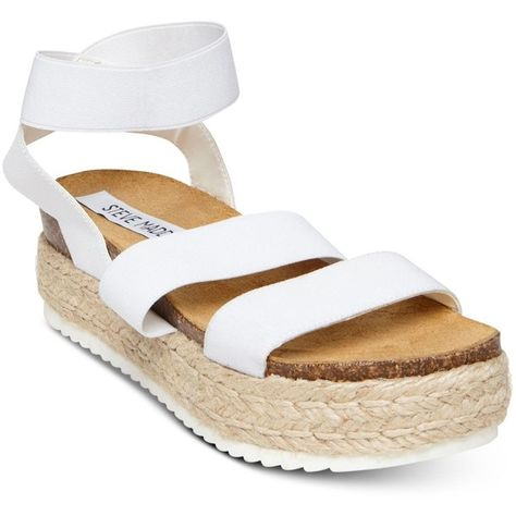 5e928f083e35 Steve Madden Women s Kimmie Flatform Espadrille Sandals (89 AUD) ❤ liked on  Polyvore featuring shoes