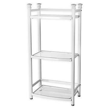 White Bathroom Shelves Bed Bath Beyond With Images White