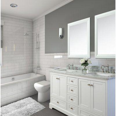 Longford 60 Double Bathroom Vanity Set Birch Lane™ - Where can you buy bathroom furniture Bathroom Renovation, Traditional Bathroom, Double Vanity Bathroom, Small Bathroom Remodel, Bathrooms Remodel, Bathroom Makeover, Tile Bathroom, Bathroom Furniture, Bathroom Renovations