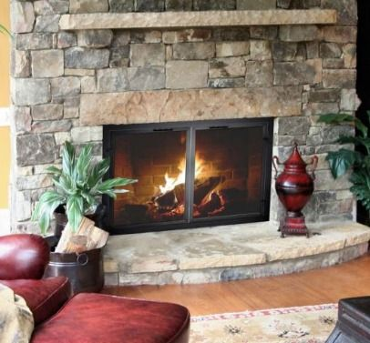 Do You Want To Replace Your Worn Outdated Fireplace Glass Doors Or Purchase New Doors For Th Fireplace Glass Doors Glass Fireplace Masonry Fireplace