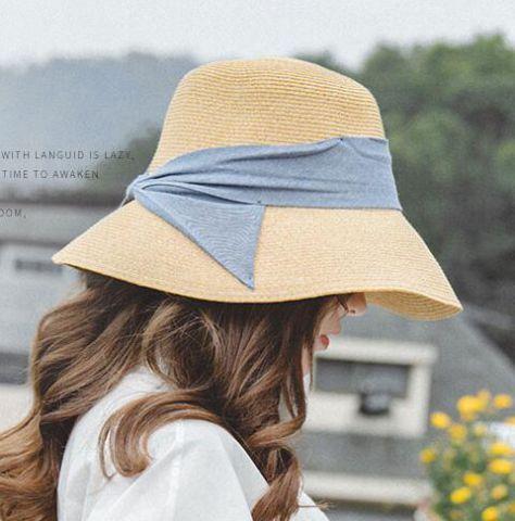 Blue Bow Sun Hat For Women Summer Straw Wide Brim Hat For Uv Sun Protection Sun Hats For Women Hats For Women Hat Fashion