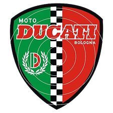 DUCATI BOLOGNA CLASSIC MOTORCYCLE HELMET STICKER DECAL