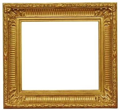 Italian 1850 Gold Leaf Fluted Cove Picture Frame 17x19 Sku 1823 Gold Leaf Frame Picture Frames