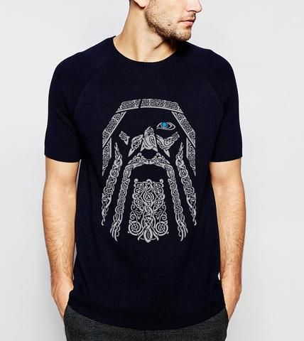 Hot Sale Odin Vikings T Shirt Men 2019 Summer Round Neck T Shirts