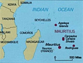 Reunion Island map France  Indian Ocean Africa Capital Saint