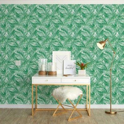 Tropical Peel Stick Wallpaper Green Opalhouse Removable Wallpaper Tropical Wallpaper Peel And Stick Wallpaper