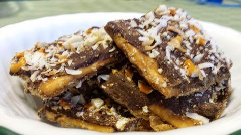 saltine cracker chocolate toffee bars aka christmas crack recipe easy to make