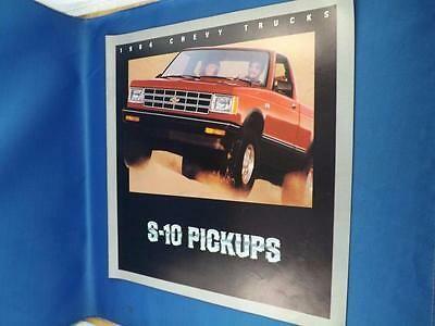 1984 Chevy S 10 Pickups Truck Dealer Sales Brochure Specifications Options In 2020 Pickup Trucks Sales Brochures Trucks For Sale