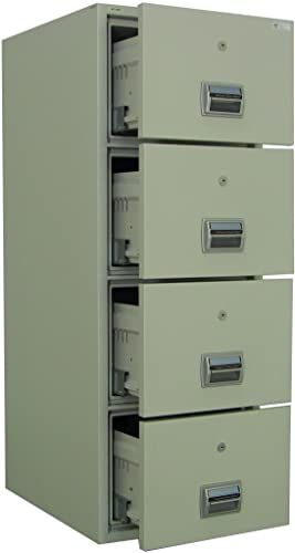Buy Amffc 400 Fireproof Burglary Resistant 4 Drawer File Cabinet Online Filing Cabinet Home Office Furniture Metal Bookcase