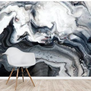 Abstract Marble Blacks Wallpaper Mural Wallsauce Au Marble Black Wallpaper Marble Wall Mural Mural Wallpaper