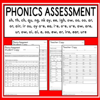 Phonics Assessment Older Students Phonics Assessments Phonics Read Write Inc Phonics