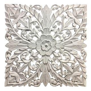 Distressed White Medallion Wall Decor Kohls In 2020 Medallion Wall Decor Dinning Room Wall Decor Carved Wall Decor