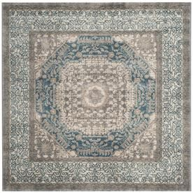 Safavieh Sofia Ladik 5 Ft 1 In X 5 Ft 1 In Square Light Gray Blue Sof365a 5sq Area Rugs Colorful Rugs Rugs