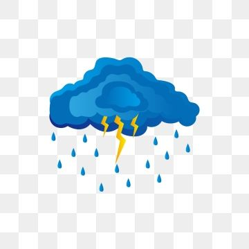 Blue Gradient Level Black Cloud Lightning Dark Clouds Blue Rain Png And Vector With Transparent Background For Free Download Black Clouds Graphic Design Background Templates Lightning