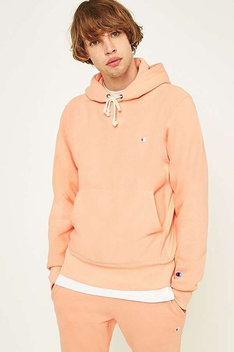 Clearance sale uk cheap sale wide selection Champion Peach Reverse Weave Hoodie | SWEATS AND HOODS ...