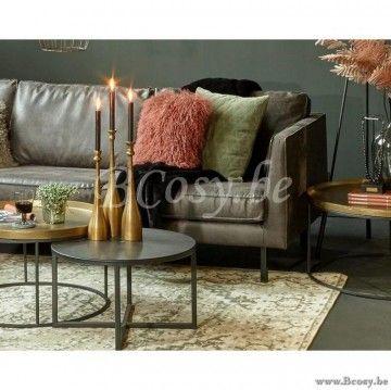 Hoekbank Leer Groen.Lifestyle Perugia Leren Hoekbank Groen Perugia Lounge Sofa In