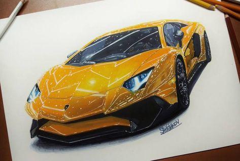 Original Car Drawing By Dmirty Shishkov Realism Art On Paper