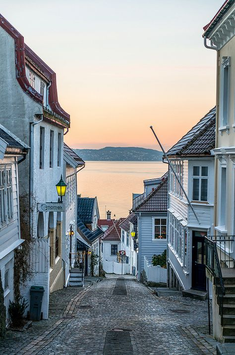 Streets of Bergen. © Paulius Bruzdeilynas Bergen is a city and municipality in Hordaland on the west coast of Norway. The city was established before 1070 AD. Places To Travel, Places To See, Travel Destinations, Travel Tips, Lofoten, Places Around The World, Travel Around The World, Norway Bergen, Cruises