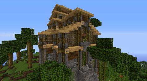 Minecraft Mountain House Minecraft Pinterest Minecraft Games