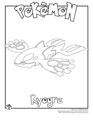 Kyogre Coloring Page Pokemon Coloring Pages Coloring Pages