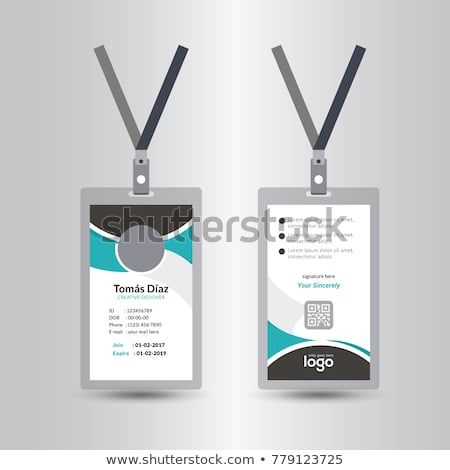 Creative Simple Green Black Id Card Design Vector Template Staff Id Card Vector Design And Text Template Illustration Simple Green Creative Card Design