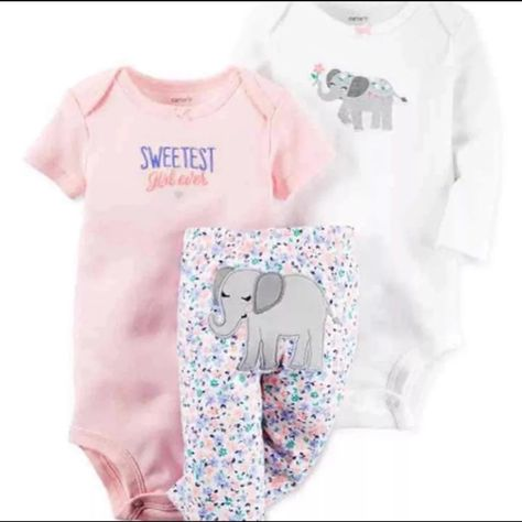 Carters baby girl 3 piece bodysuit/pant