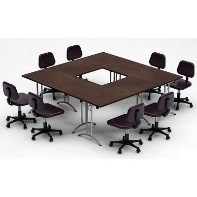 Meeting Seminar 4 Piece Square Conference Table Set Conference Table Meeting Table Meeting Table Office
