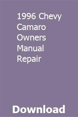 1996 Chevy Camaro Owners Manual Repair Sewing Machine Service Manuals Repair Manuals Sewing Machine Service