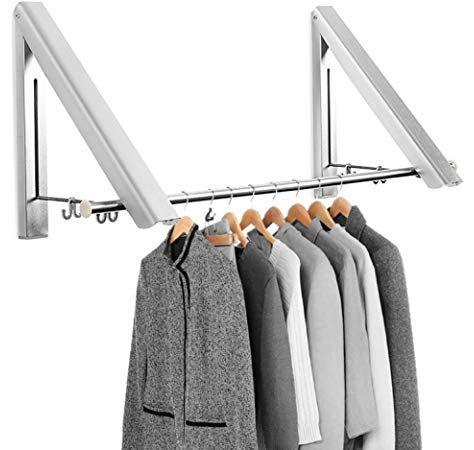 B/äder W/äschetrockner Balkon Silber Kleiderhaken Klappbar Aussenbereich Klapphaken kleiderwandhaken W/äschel/üfter Wand haken Kleiderst/änder Wandhaken Kleiderl/üfter Garderobenhaken f/ür Ecken