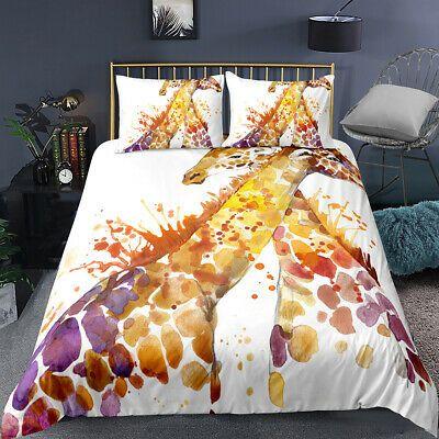 Details About 3d Ink Lover Giraffe Bedding Set Duvet Cover