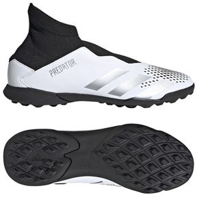 Adidas Youth Predator 20 3 Laceless Ll Turf Soccer Shoes White Black Soccerevolution In 2020 Soccer Shoes Comfortable Shoes Soccer Store