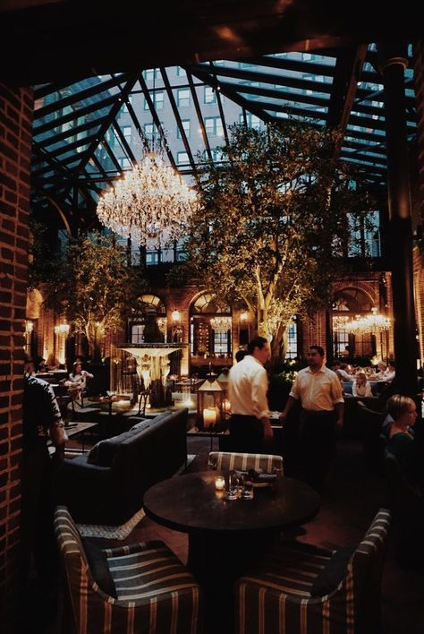 Luxurious interior design in a fantastic restaurant.