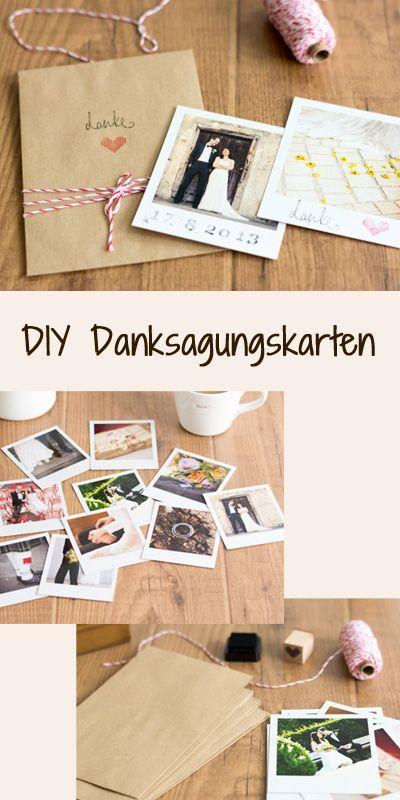 Vintage DIY: Schicke Dankeskarten Für Eure Hochzeit Basteln | Wedding,  Invitation Fonts And Weddings