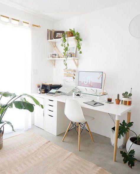 Arbeitsplatzgestaltung, Home-Office-Ideen, kleine Schreibtischideen, schicke Home-Office-Ideen, kleine Home-Office-Ideen ...