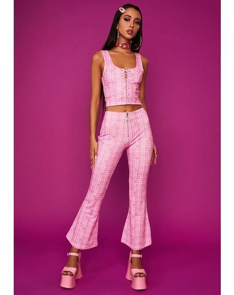Lush Opulence Flare Pants Matching Sets Outfit 2000s Fashion Outfits Fashion Inspo Outfits
