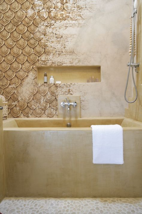 Pattern Zar Wet System Is The Waterproof Decorative Membrane With Very Unique Features The Wall Bathroom Wallpaper Wall Deco Architecture Bathroom