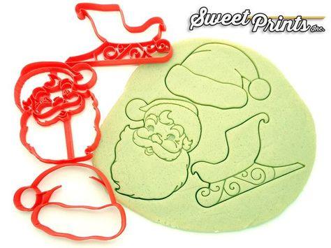 Santa Claus Set of 3 Cookie/Fondant Cutter