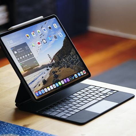 Apple's new Magic Keyboard for the iPad Pro makes it easy to turn a tablet into a laptop. But it's expensive, heavy, and more limited than you might expect. Still, if you want to convert an iPad into a laptop, it's the best option available. Ipad Pro Apple, Ipad Pro 12, Ipad 4, Ipad Pro Reviews, High Tech Gadgets, Electronics Gadgets, Accessoires Iphone, Settings App, Best Laptops