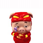 21 The flying pigs-Superman emoticon & emoji download