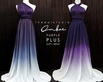 Purple Bridesmaid Dress Etsy Bridesmaid Dresses Plus Size