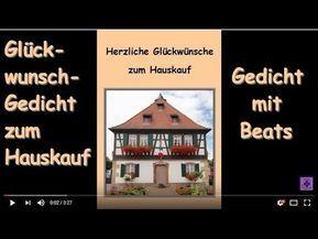 Fg191 Gluckwunsche Zum Hauskauf Gedicht Spruche Herzlichen Gluckwunsch Zum Eigenen Haus Youtube Gluckwunsche Zum Eigenen Haus Gedichte Wunsche