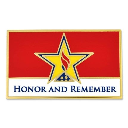 Honor And Remember Flag Pin 1 1 4 W X 3 4 H Cloisonne Process And Gold Plated 4 99 Flag Pins Veterans Day Veteran