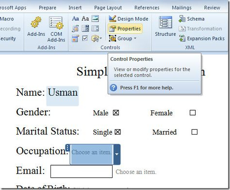 drop down 1 Tech Pinterest Microsoft office, Microsoft and Tech - Make A Survey In Word